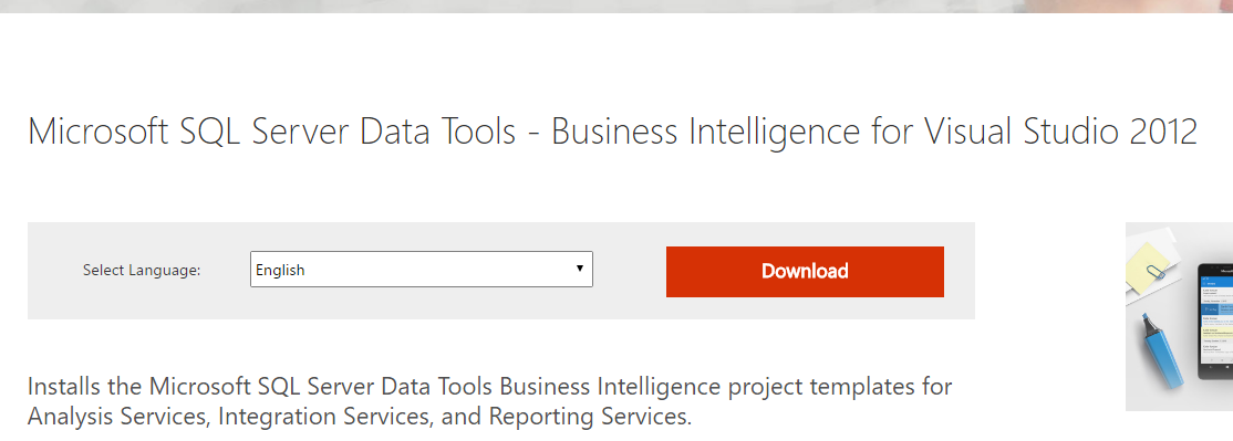 microsoft data tools download