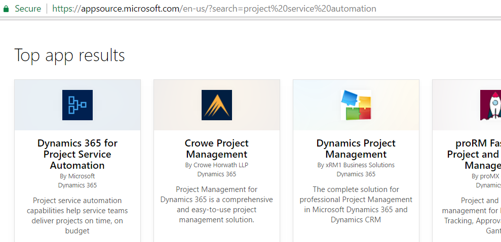 Install Project Service Automation for Dynamics 365 - Carl