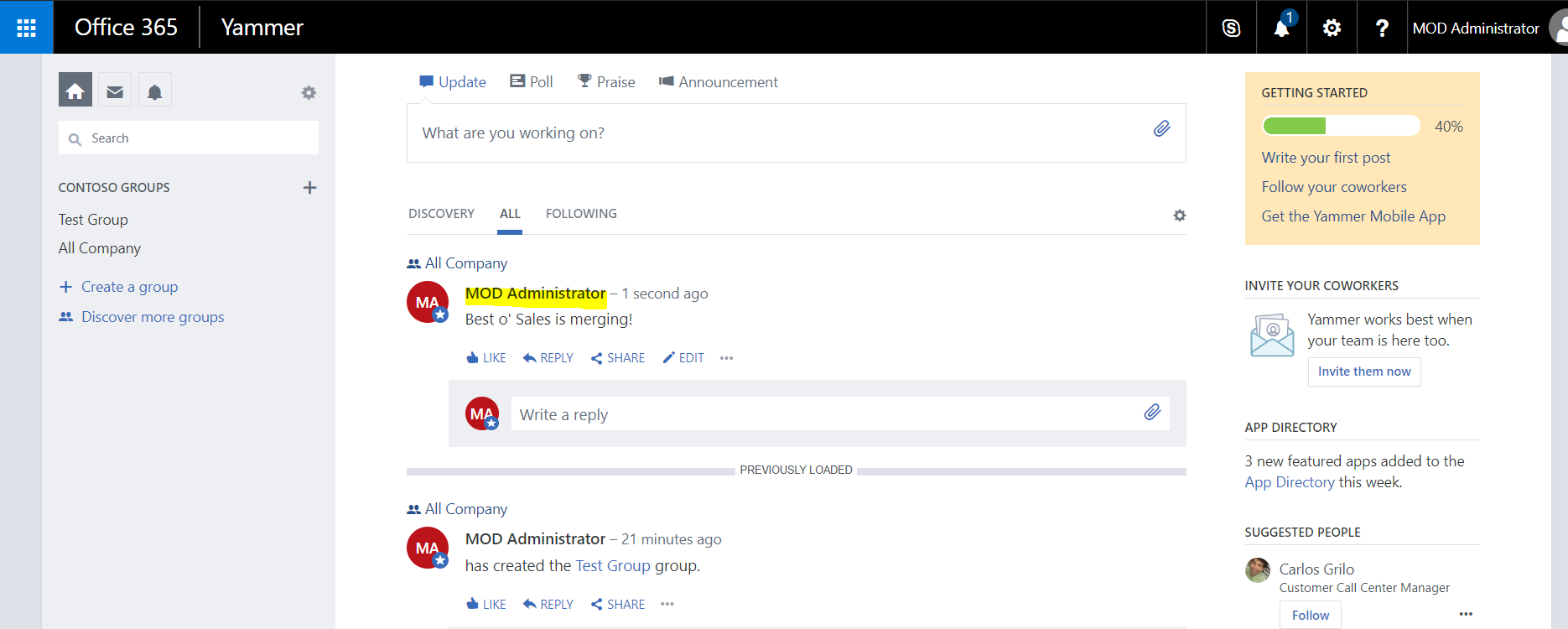Connecting dynamics 365 to yammer carl de souza - Yammer office 365 integration ...