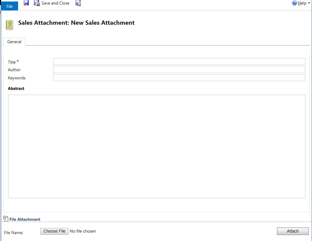 SalesLiteratureItem (sales attachment) entity messages and methods