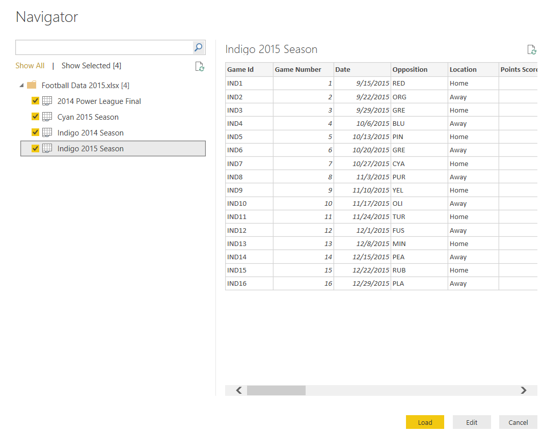 Preview Excel Data
