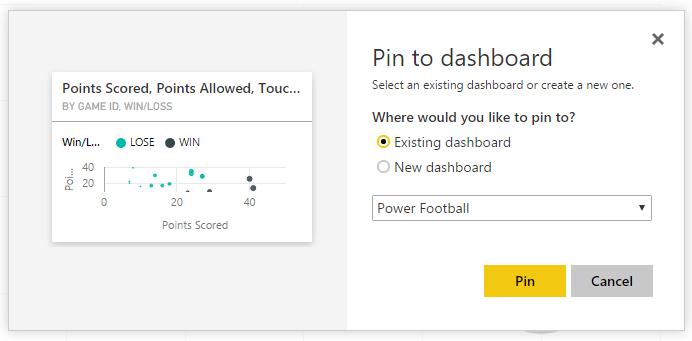 Pin to Dashboard