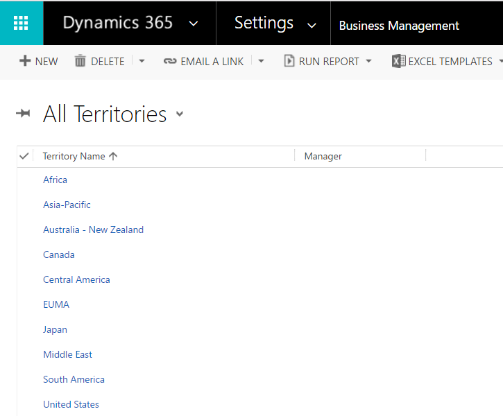 Dynamics 365 Sales Territories - Carl de Souza