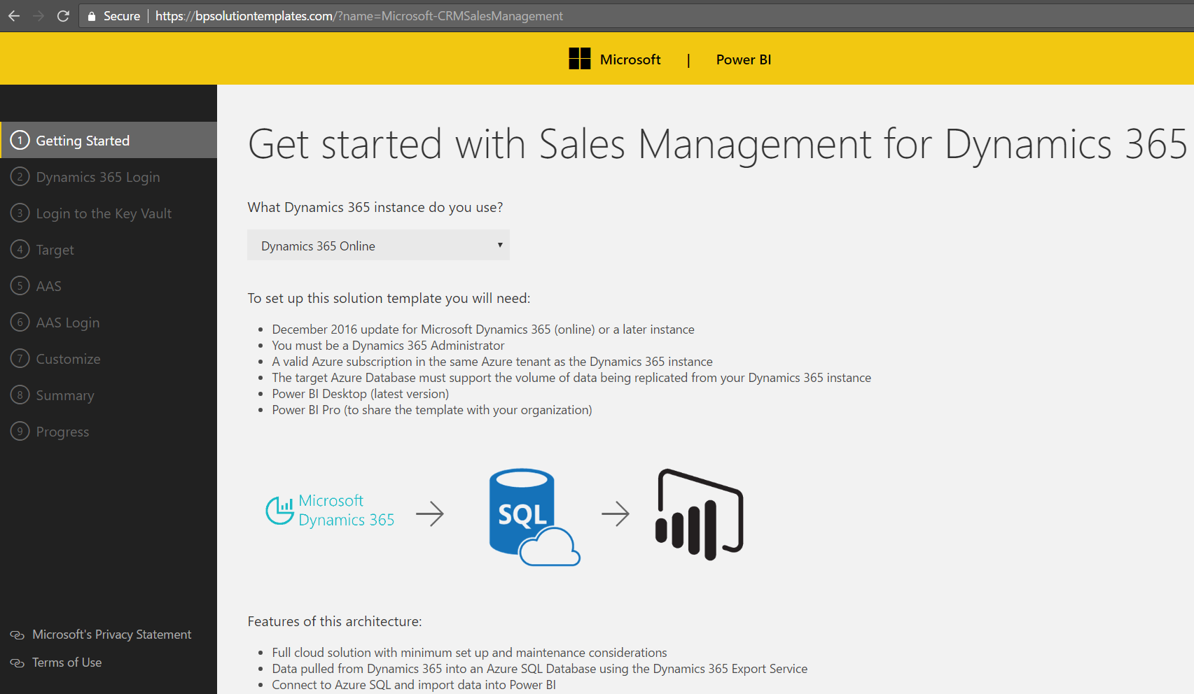 Dynamics 365 Solution Templates Install - Sales Management - Carl de
