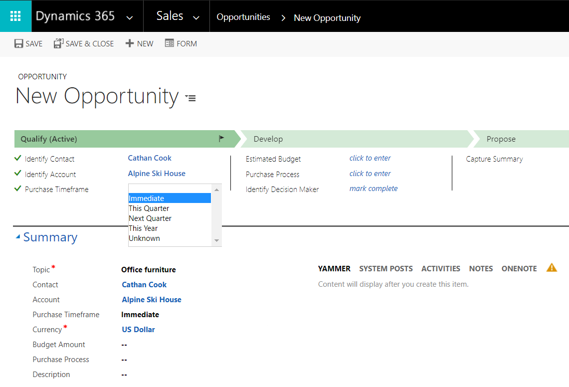 Create Opportunity Quote Order And Invoice In Dynamics Carl - Invoice 365