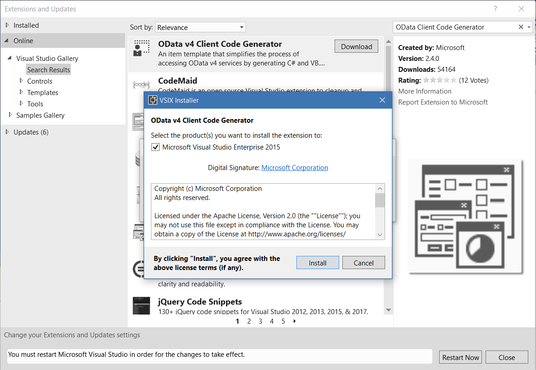 OData Client Code Generator - Carl de Souza