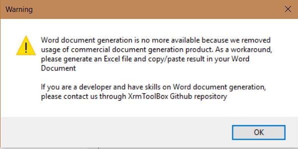 XrmToolBox Metadata Document Generator - Carl de Souza