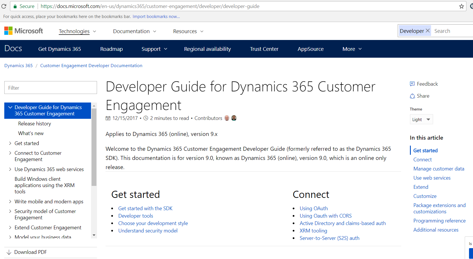 Dynamics 365 Developer Guide (the new SDK) - Carl de Souza