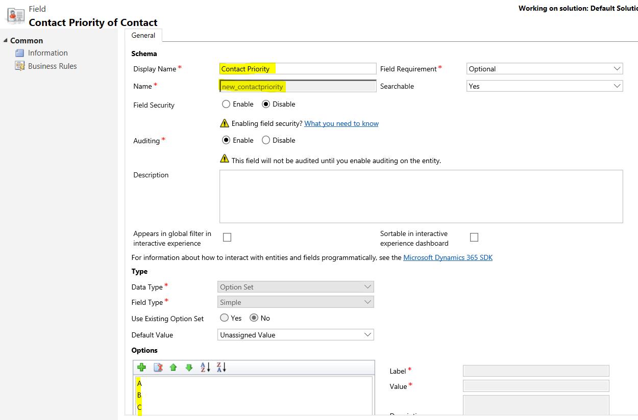 Getting Local Option Set Metadata with WebAPI and JavaScript