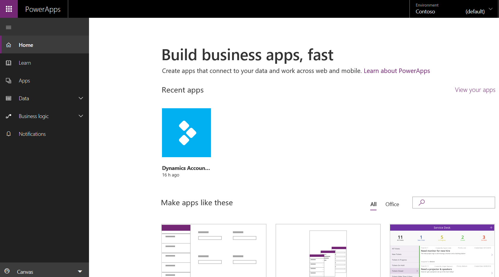 PowerApps, Canvas Apps, Model Driven Apps, Common Data