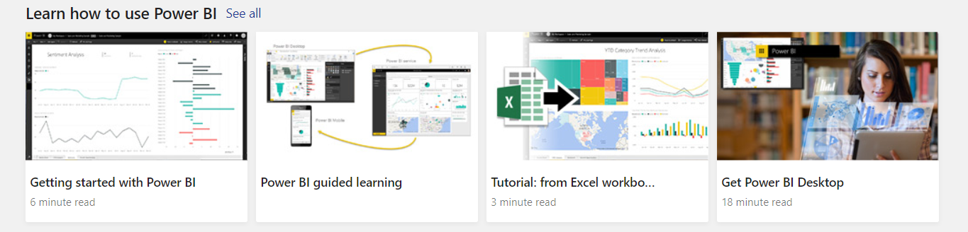 Power BI Home - Exploring the Features - Carl de Souza