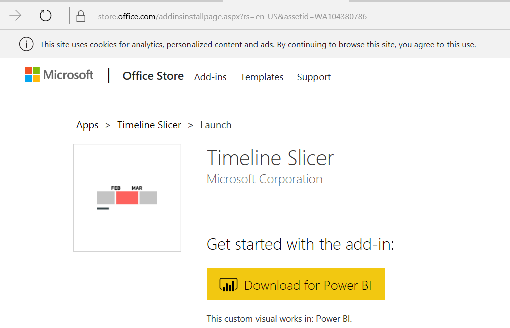 Installing and Using the Timeline Slicer Visual for Power BI