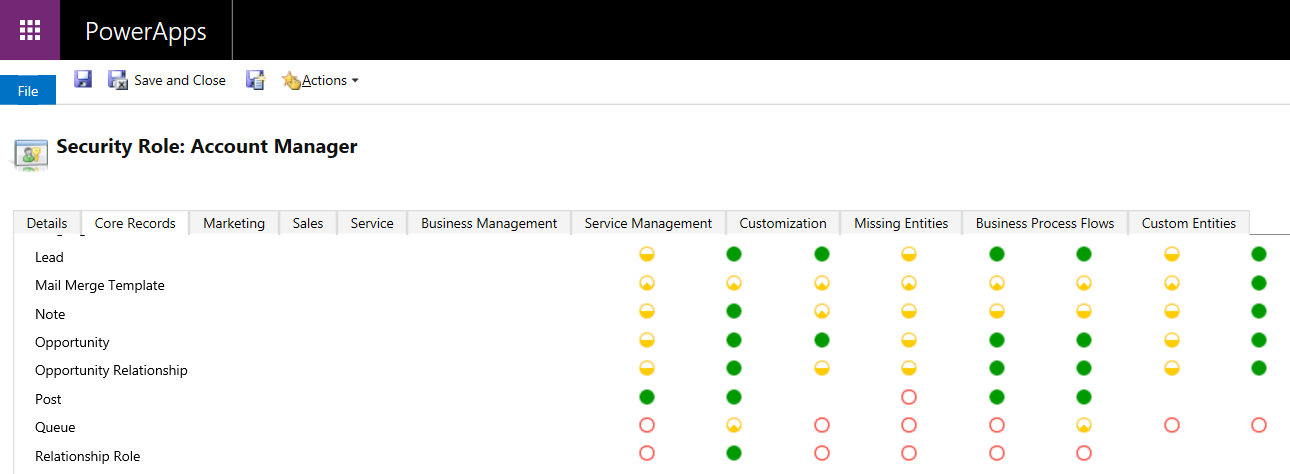 Find Which Privileges Are Applied to Which Roles in Dynamics