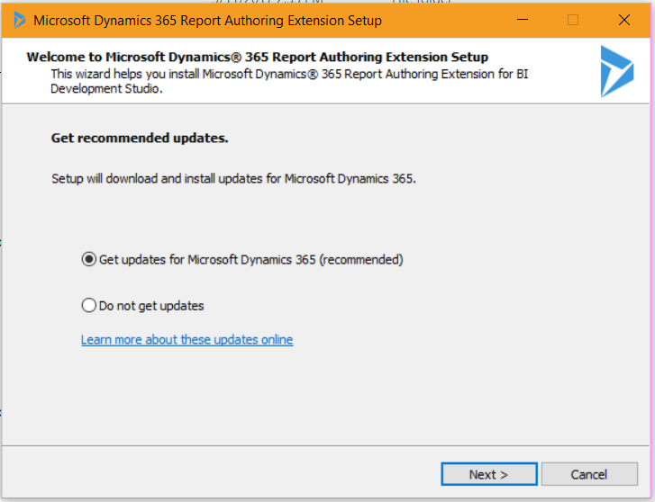Installing Dynamics 365 Report Authoring Extension - Carl de
