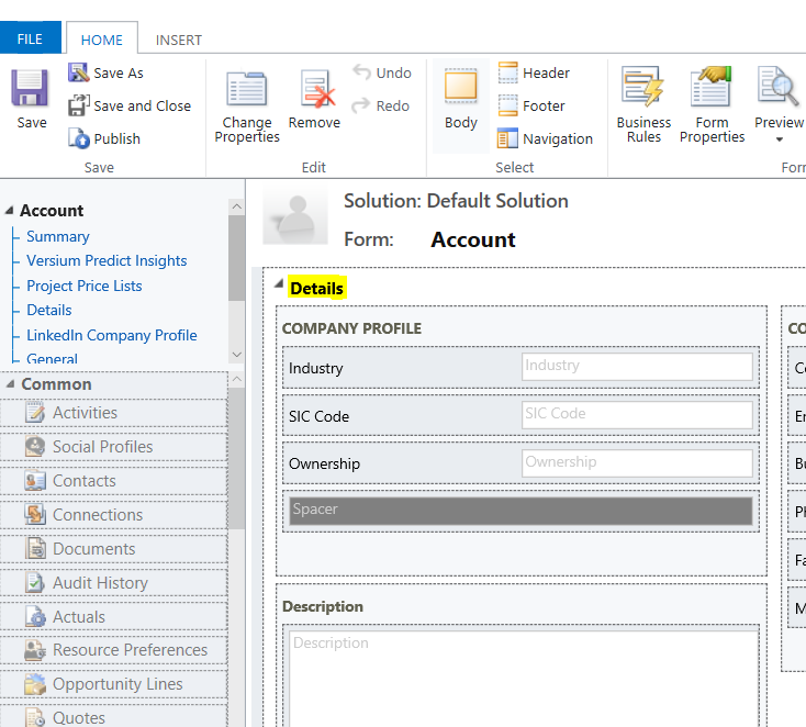 Hide and Show Tabs and Sections in Dynamics 365 using
