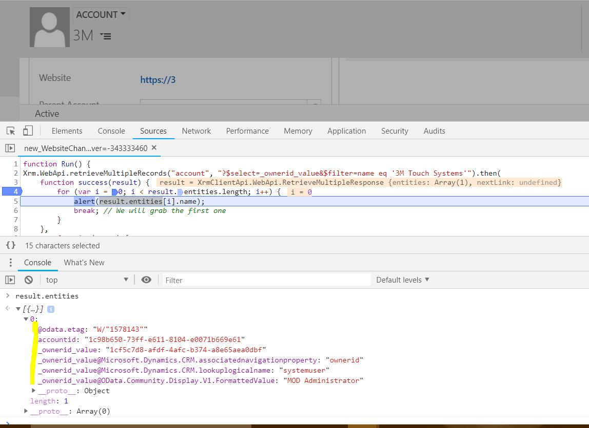 Set and Retrieve a Lookup Id and Value using Xrm WebApi - Carl de Souza