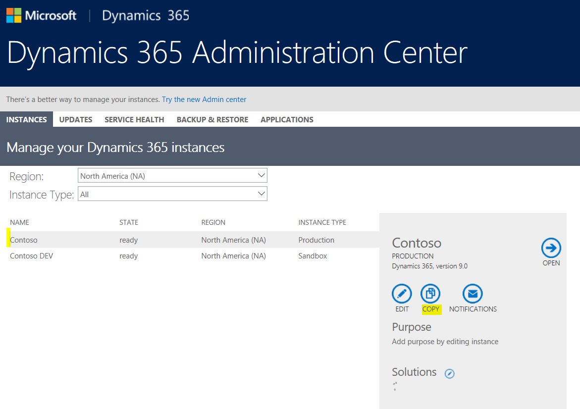 Copying a Dynamics 365 Organization into another Org - Carl