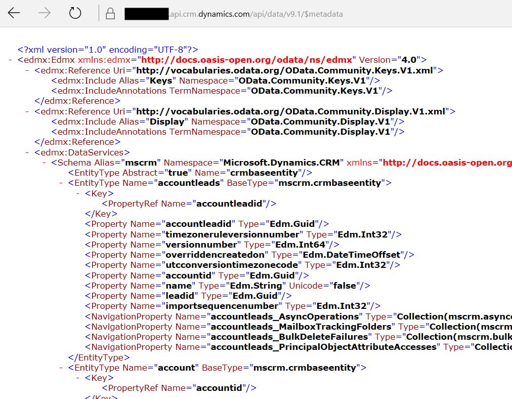 View Dynamics 365 Metadata Through URL - Carl de Souza