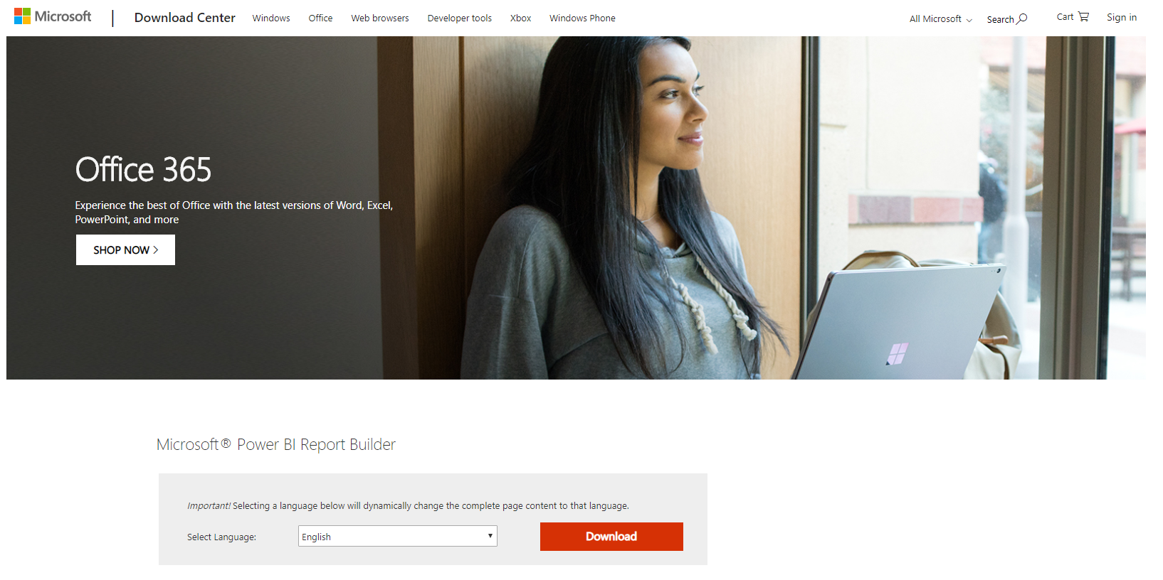 Downloading and Installing Power BI Report Builder - Carl de