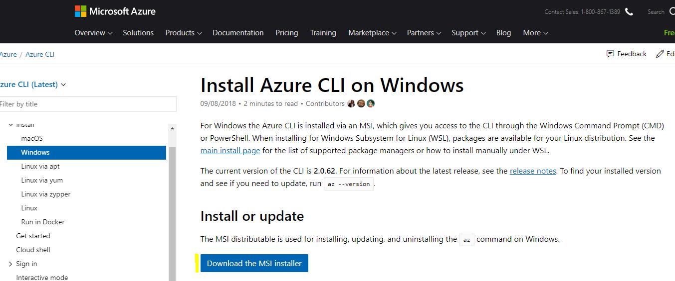 Installing Azure CLI on Windows - Carl de Souza