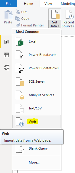 Connecting Power BI to a Website to Import Data - Carl de Souza