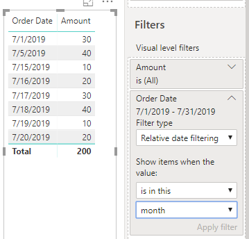 How to use Relative Date Filtering to Filter Data Easily in
